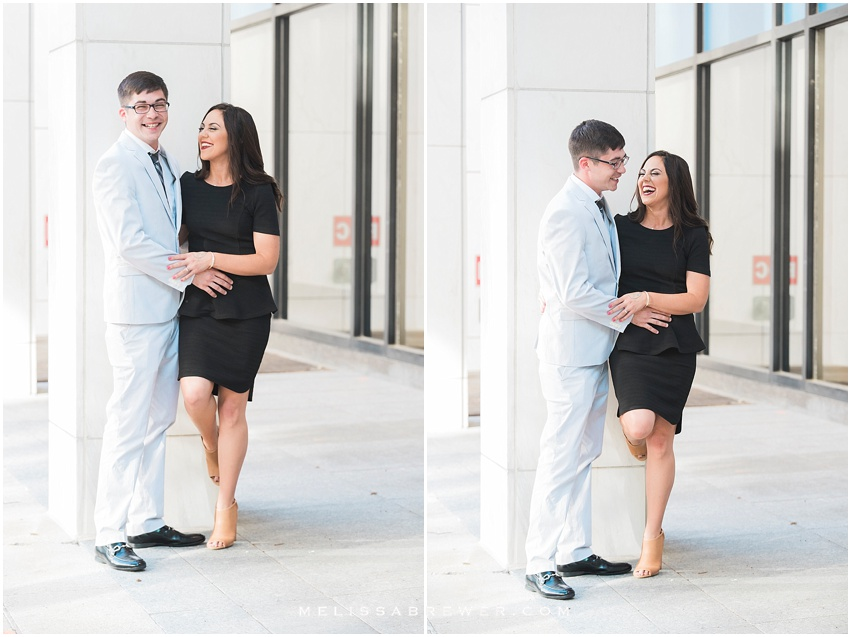 engagement session on main street in downtown columbia sc
