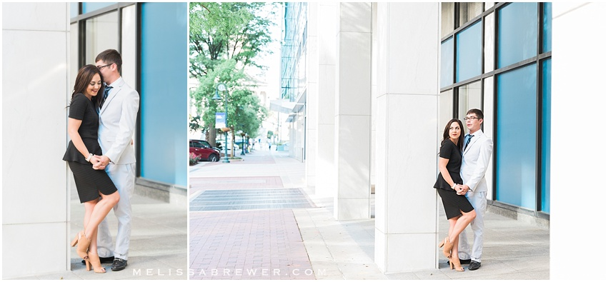 editorial engagement session on Main Street in Downtown Columbia, SC