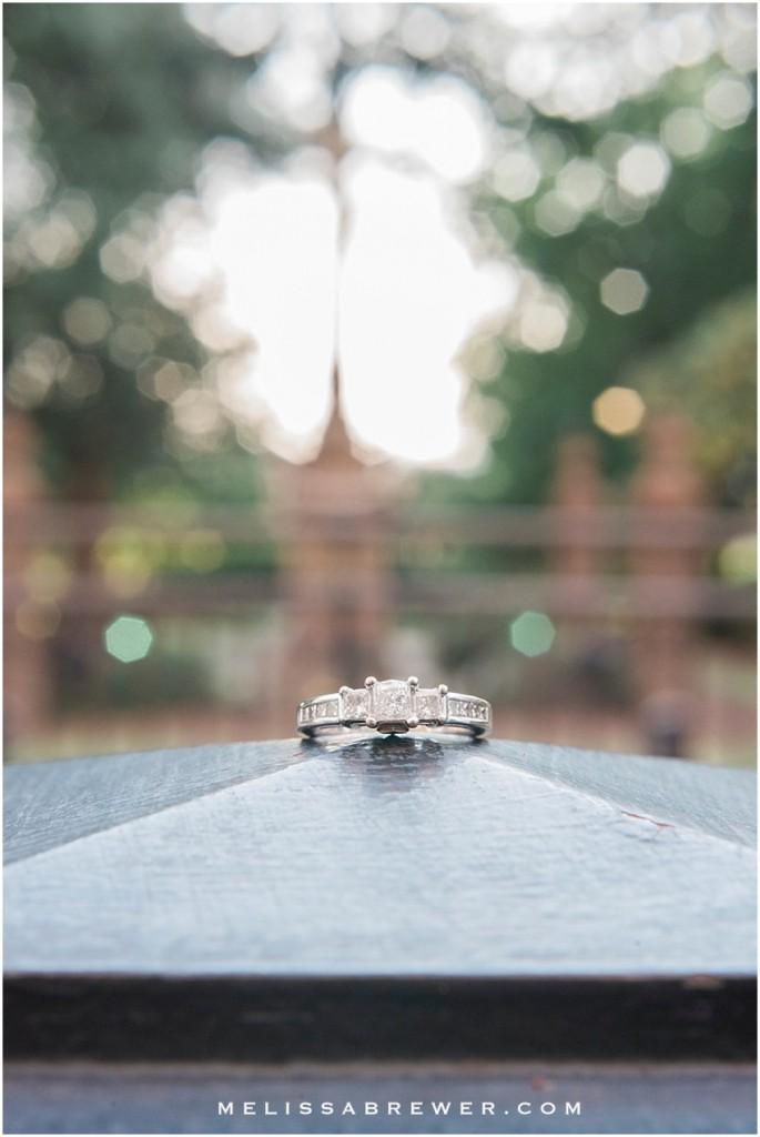 macro engagement ring shot in Columbia SC