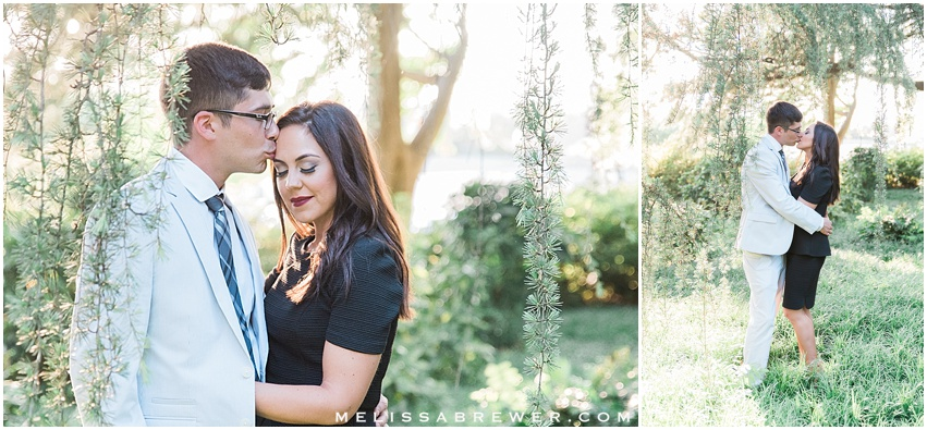 magic hour engagement session on SC statehouse grounds