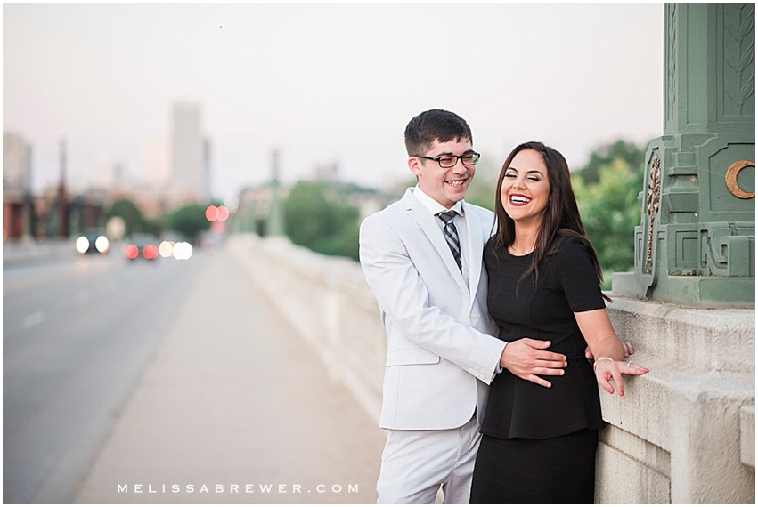 Engagement session on Gervais Street Bridge in Columbia, SC