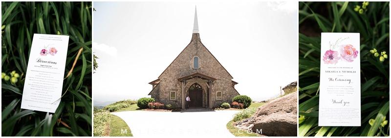 cliffs at glassy mountain chapel destination wedding greenville sc wedding