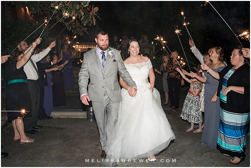 sparkler exit OCF 300 Senate wedding in Columbia SC photographer Melissa Brewer Photography