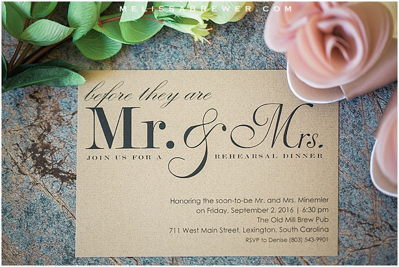 Wedding details shoes Badgley Mishka ring shot Moseley's Diamond Showcase wedding photographer in Columbia SC wedding invitations details