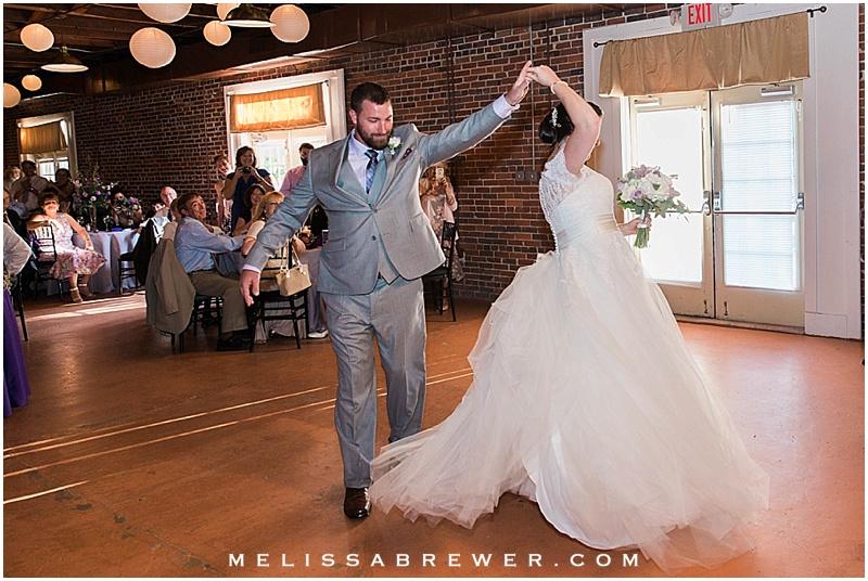 wedding reception at 300 Senate in Columbia SC wedding photographer Melissa Brewer Photography