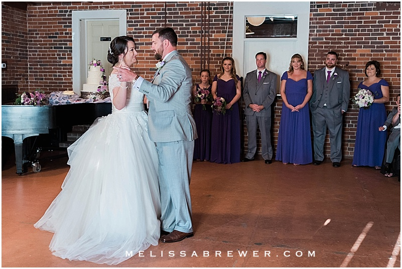 wedding reception at 300 Senate in Columbia SC wedding photographer Melissa Brewer Photography