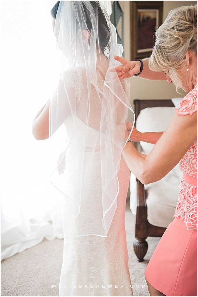 Bride getting ready Charleston SC wedding photographer in charleston SC island house weddings