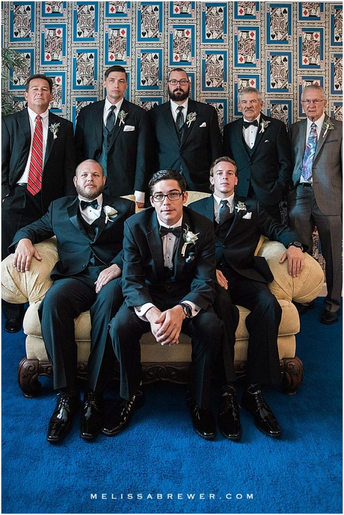 Bridal Party photos at The Island House Groomsmen wedding photographer in Charleston SC