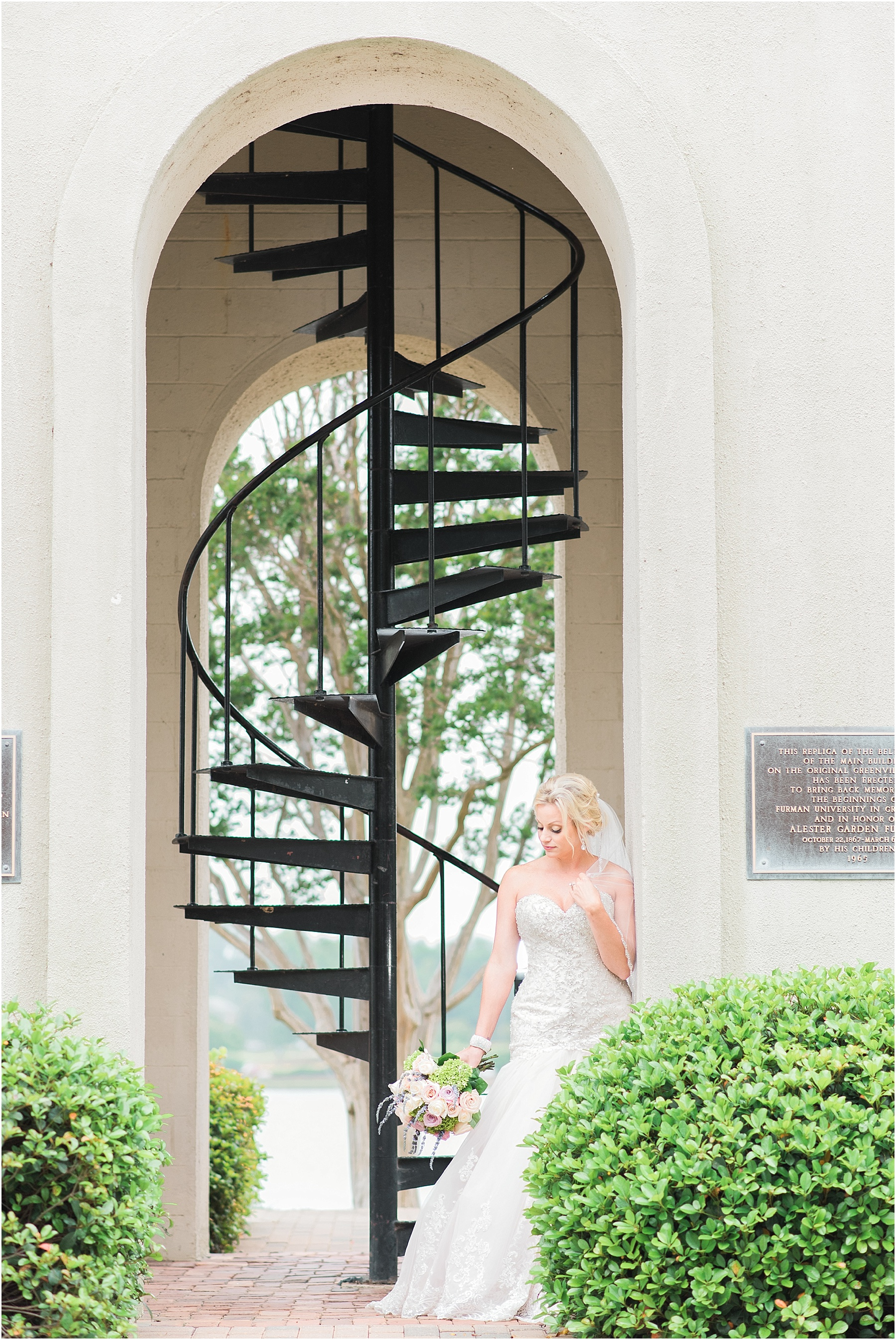 Stunning Greenville Bridals at Furman University Fine Art Wedding