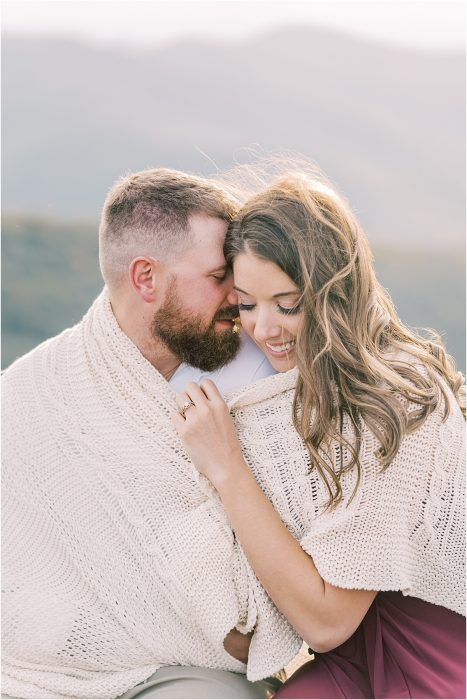 mountaintop cliff engagement session north carolina mountains photographer