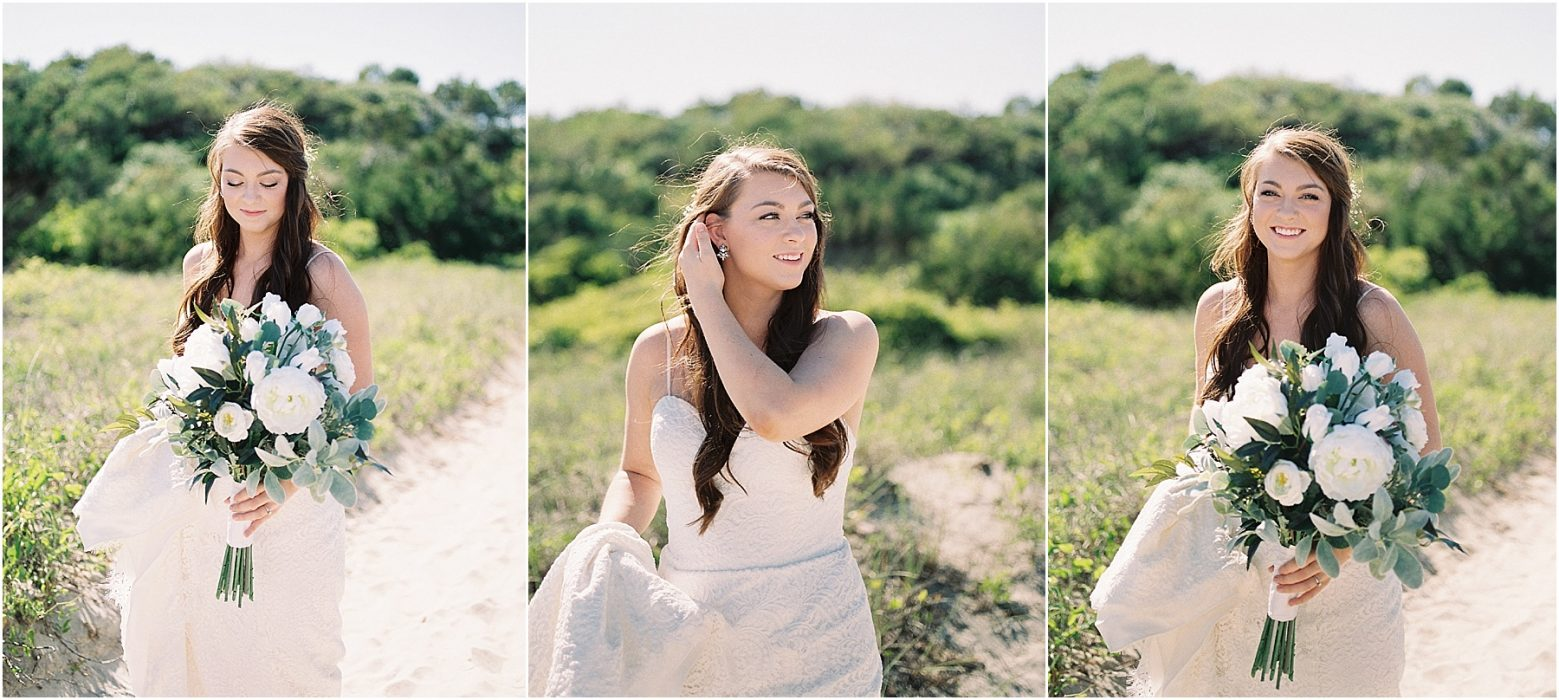fine art film wedding photography bride at atalaya castle myrtle beach huntington beach south carolina fine art film photography melissa brewer