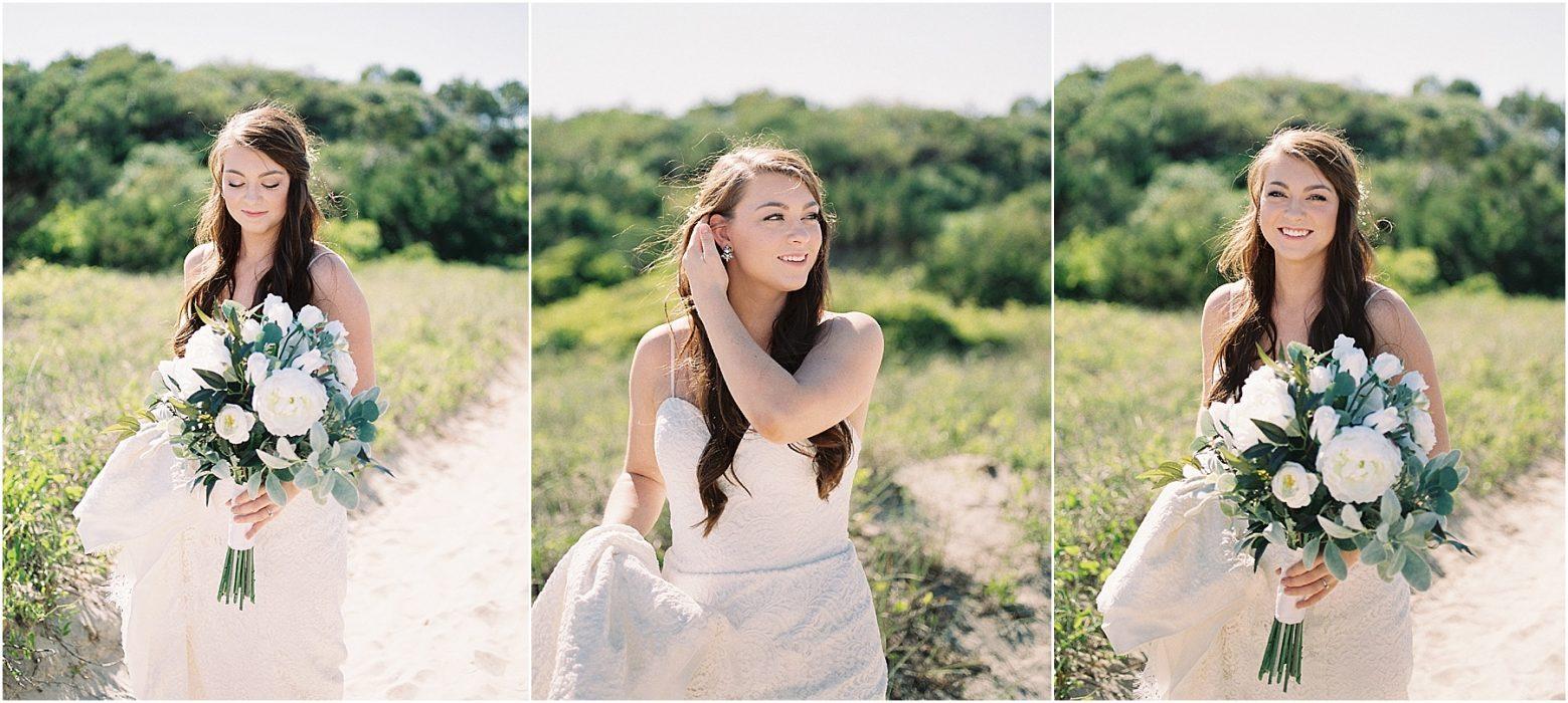 fine art film wedding photography bride at atalaya castle myrtle beach huntington beach south carolina fine art film photography melissa brewer