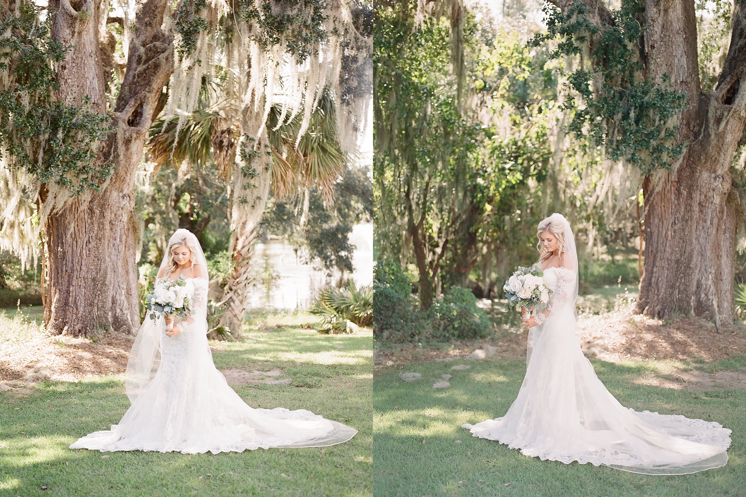 charleston sc bridal portrait session legare waring house wedding photographer spanish moss bridal portraits oak trees