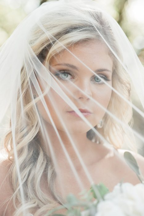 charleston sc film photography bridal portrait under veil legare waring house