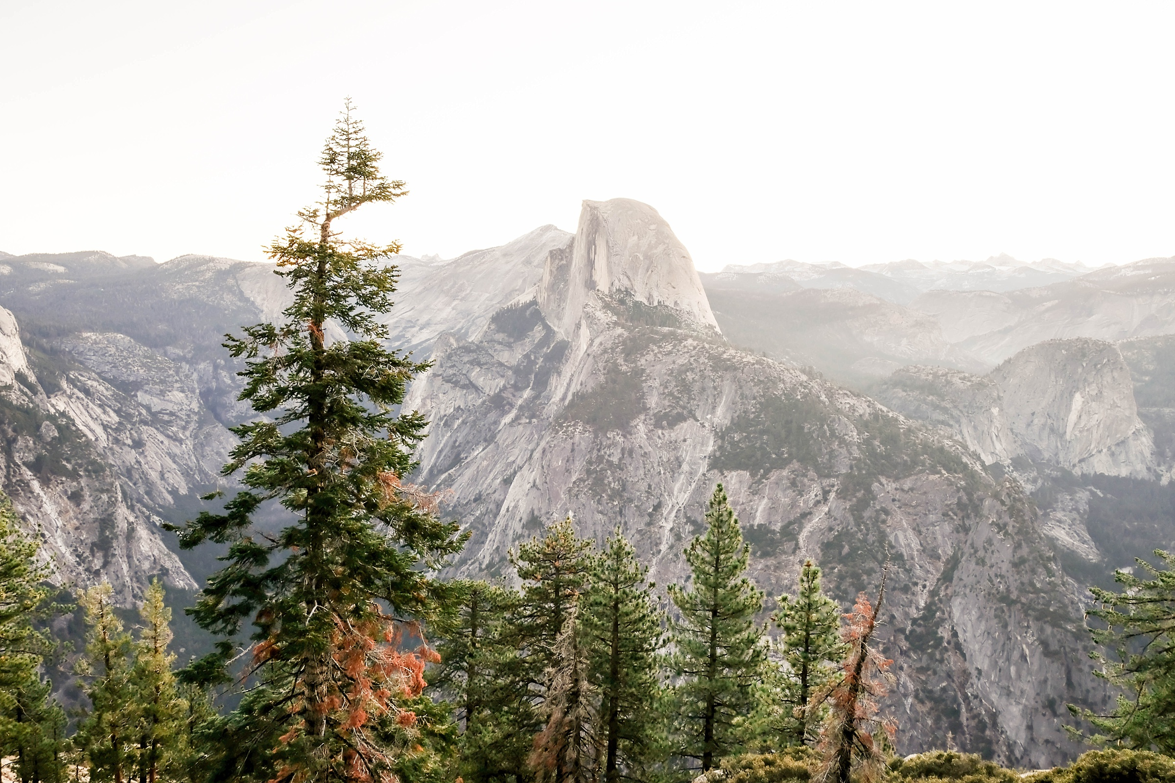 Half Dome sunrise at Yosemite National Park engagement session in California destination wedding photography
