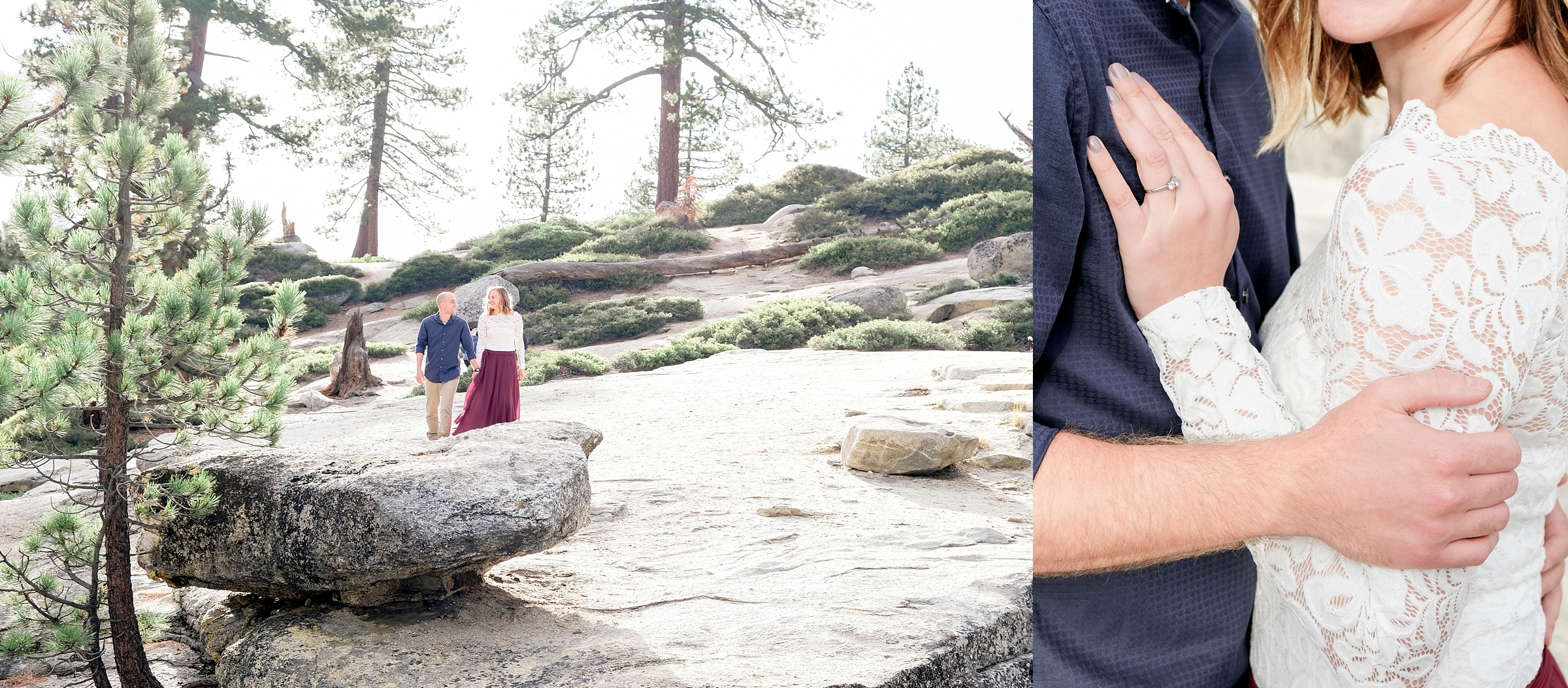 taft point yosemite national park engagement session destination engagement session