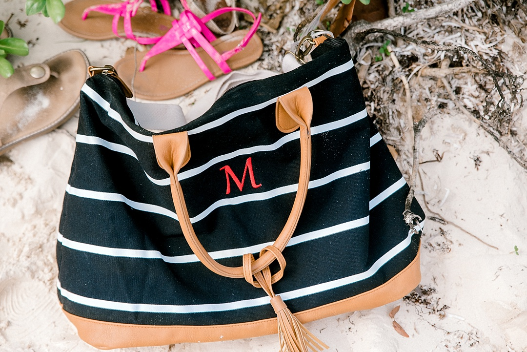 monogrammed weekender tote from Groomsday melissa brewer photography bridesmaids gifts sc wedding photographer