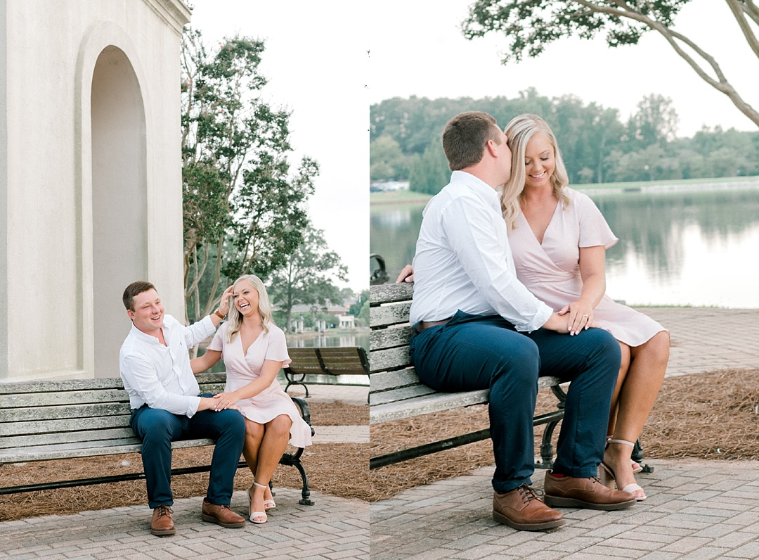 furman engagement session at furman greenville sc engagement wedding photographer in greenville sc furman university belltower lake engagement upstate wedding photographer