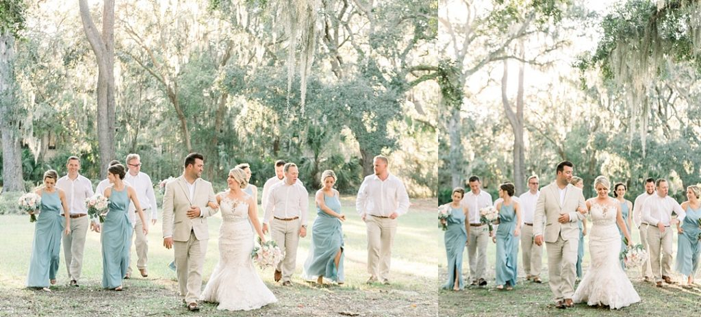 hilton head island wedding photographer wedding party sea pines resort spanish moss 24 sandhill crane blue wedding party group