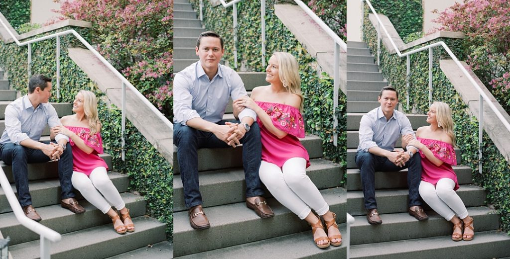charleston engagement session poses on stairs charleston sc engagement charleston wedding photographer sc film photographer sc wedding photographer southern wedding engagement photographer