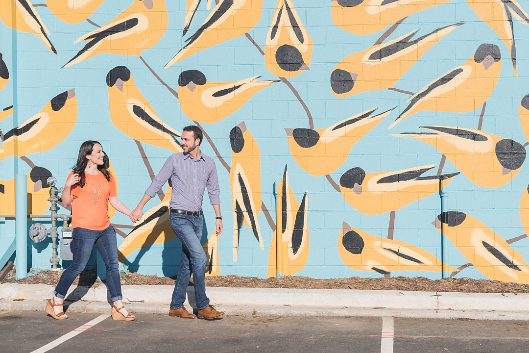 stone mural project goldfinches joseph bradley engagement session murals
