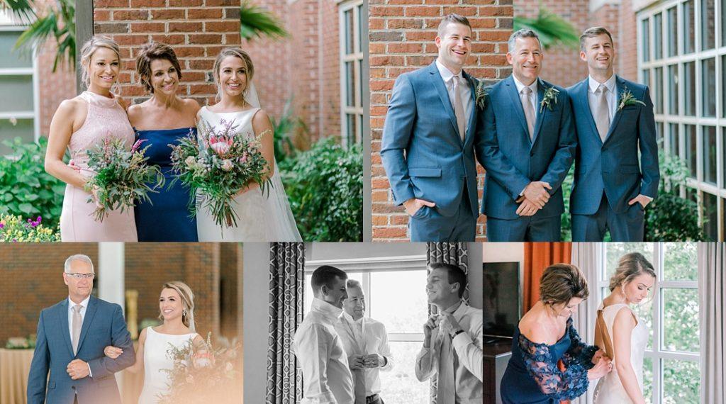 wedding day at clemson wedding photographer family portraits
