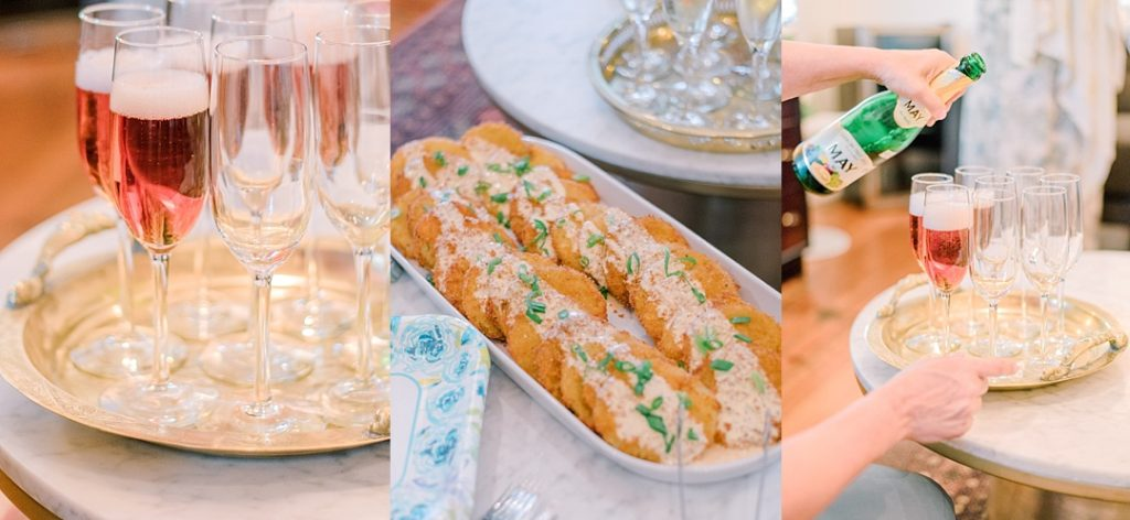 wedding elopement reception food fried green tomatoes southern wedding food