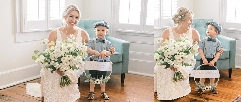 bride and ring bearer charleston sc wedding destination elopement