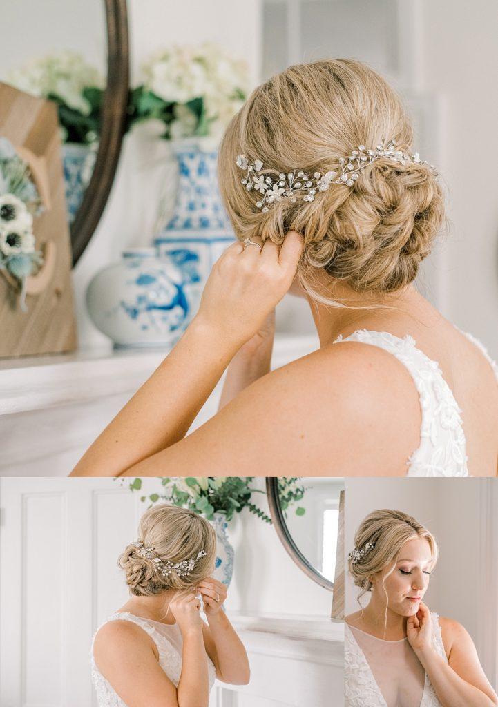 bride hair blowdry bar updo charleston sc wedding elopement photography