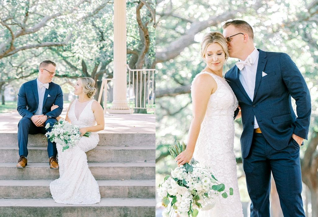 white point gardens portraits bride and groom photos charleston sc wedding photographer
