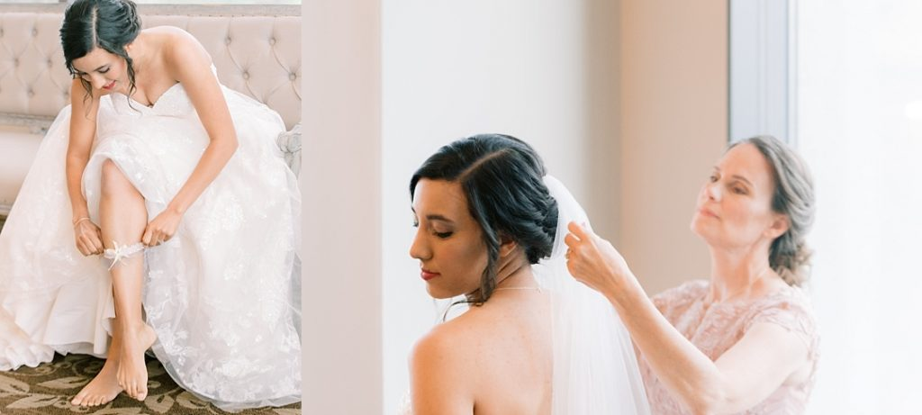 bride getting ready for wedding greenville sc wedding at commerce club