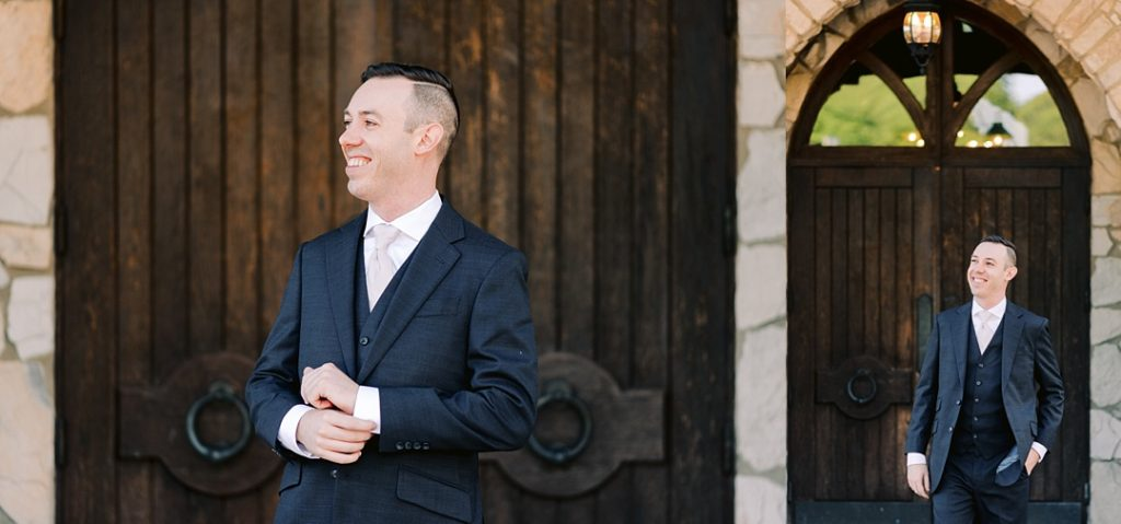 groom portraits at cliffs at glassy chapel greenville sc wedding