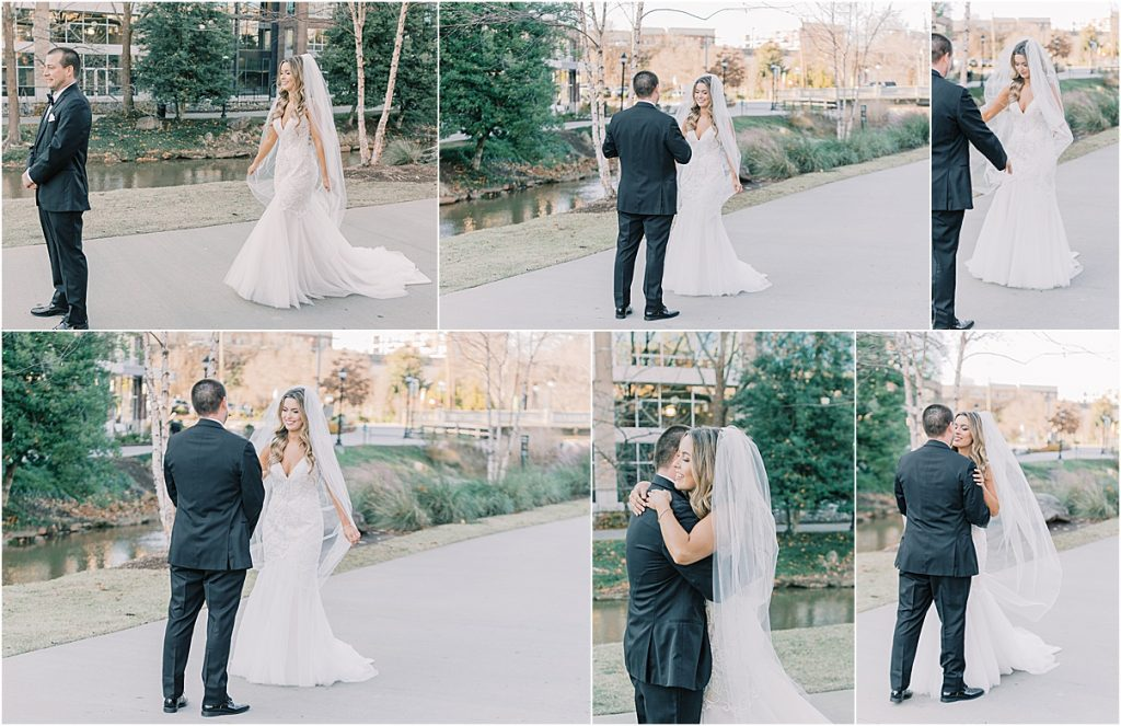 bride and groom portraits downtown greenville sc wedding in greenville sc wedding photography