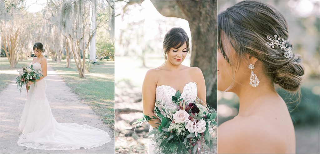 bride and bridesmaids hampton park charleston sc wedding photography spanish moss portraits