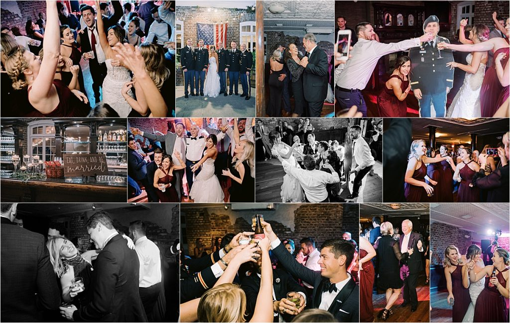 wedding reception charleston sc historic rice mill dancing singing midnight city band