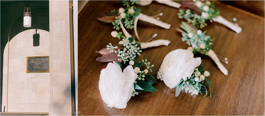 charleston wedding at the citadel's summerall chapel boutonnieres by simple stems