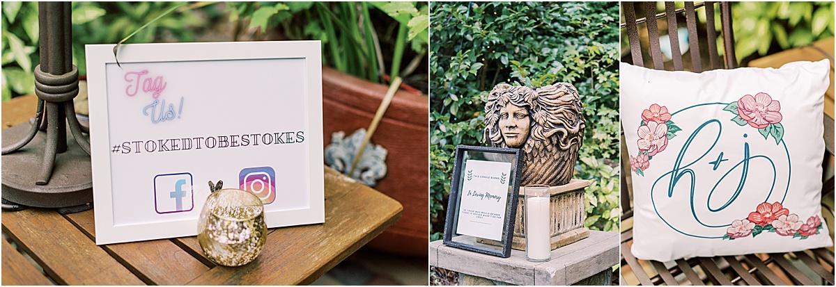 wedding details at viewpoint at buckhorn creek greenville sc