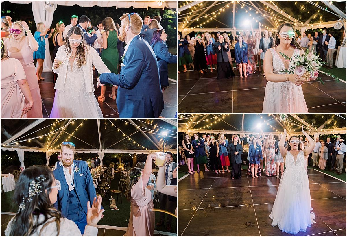bridal party wedding reception party dancing greenville sc weddings