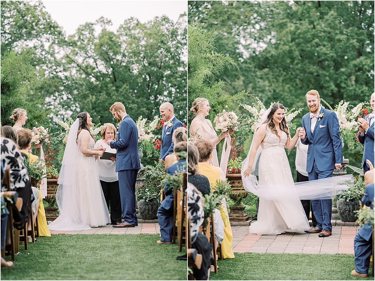 wedding ceremony at viewpoint at buckhorn creek greenville sc