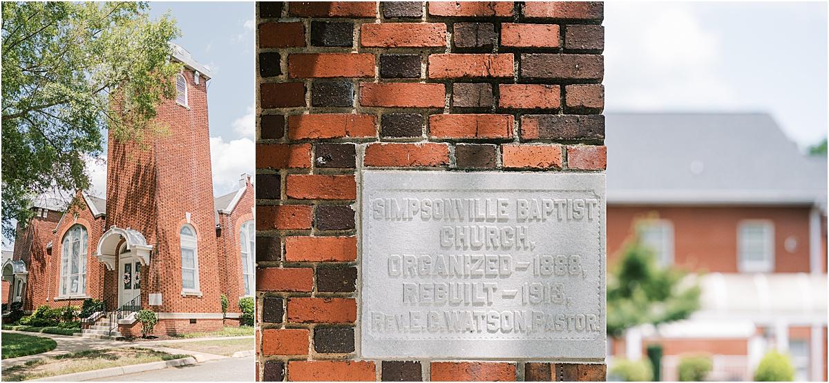 simpsonville baptist church wedding greenville sc weddings