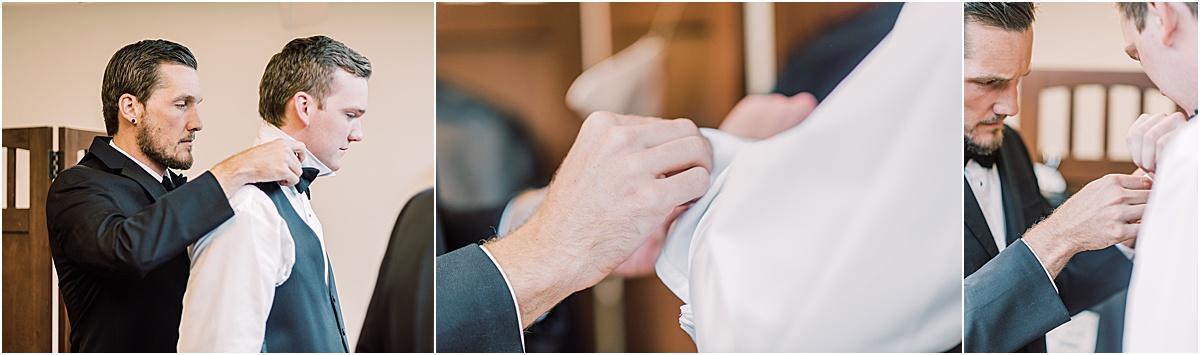 groom and groomsmen getting ready greenville sc wedding day
